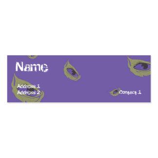 Purple Eyes - Skinny Business Card