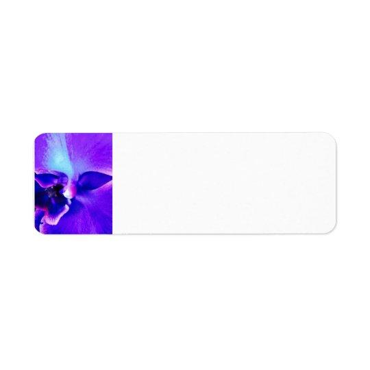 Purple face address label