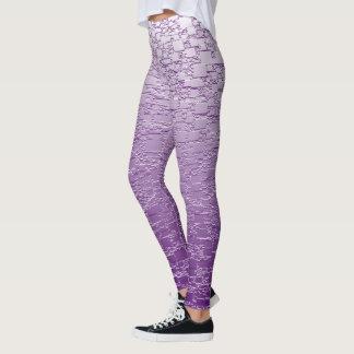 Purple Fade Mini Tile Design Leggings