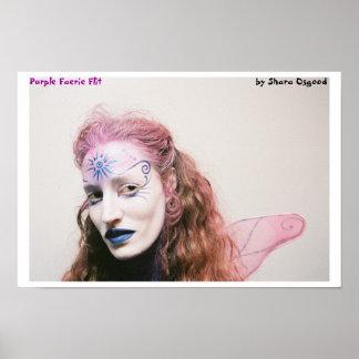 Purple Faerie Flit Poster
