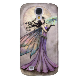 Purple Fairy and Dragonfly Fantasy Art Galaxy S4 Cases