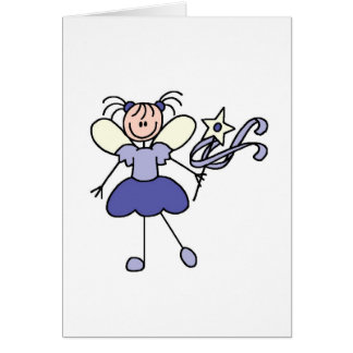 Purple Fairy Angel With Wand Card