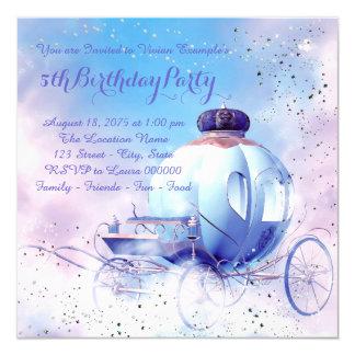 Purple Fairy Tale Princess Birthday Party 13 Cm X 13 Cm Square Invitation Card