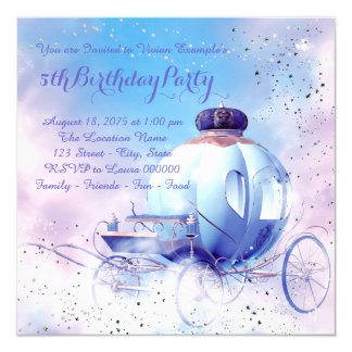 Purple Fairy Tale Princess Birthday Party Card