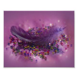 Purple Fairys Feather Photo Art