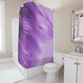 Purple Falling Lites Shower Curtain