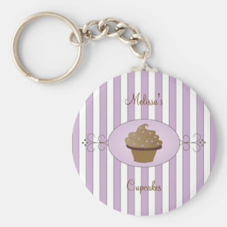 Purple Fancy Cake Basic Round Button Key Ring