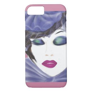 purple fashion hat lady iPhone 7 case