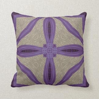 Purple Faux Embroidery Cushion