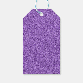 Purple faux glitter gift tags