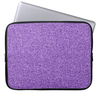 Purple faux glitter laptop sleeve