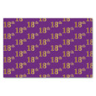 Purple, Faux Gold 18th (Eighteenth) Event Tissue Paper