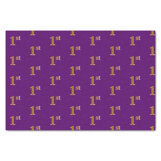 Purple, Faux Gold 1st (First) Event Tissue Paper