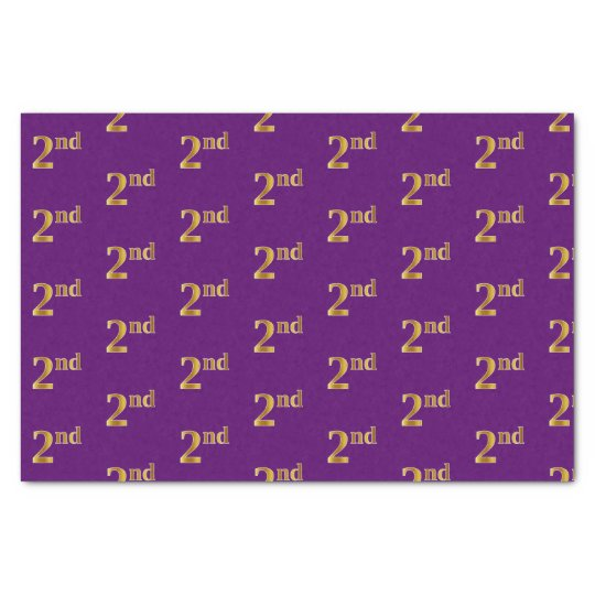 Purple, Faux Gold 2nd (Second) Event Tissue Paper