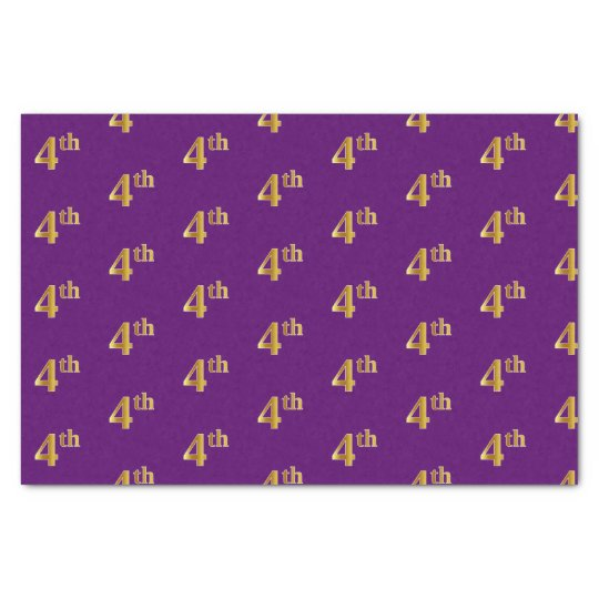 Purple, Faux Gold 4th (Fourth) Event Tissue Paper