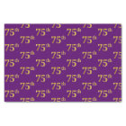 Purple, Faux Gold 75th (Seventy-Fifth) Event Tissue Paper