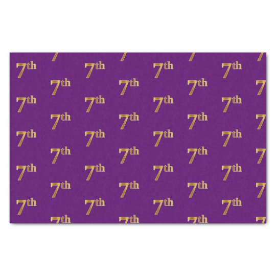 Purple, Faux Gold 7th (Seventh) Event Tissue Paper