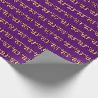 Purple, Faux Gold 83rd (Eighty-Third) Event Wrapping Paper