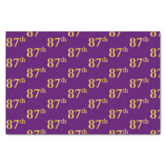 Purple, Faux Gold 87th (Eighty-Seventh) Event Tissue Paper