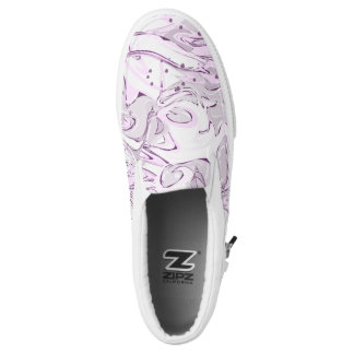 Purple faux marbled texture printed shoes