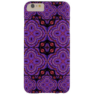 Purple Faux Weave Geometric Motifs Barely There iPhone 6 Plus Case