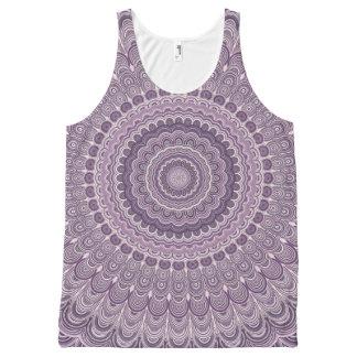 Purple feather mandala All-Over print singlet