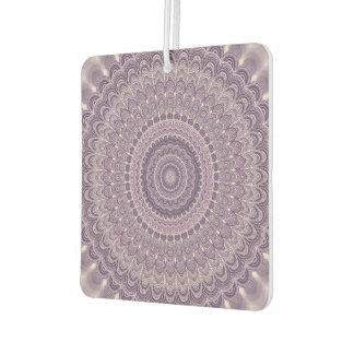 Purple feather mandala car air freshener
