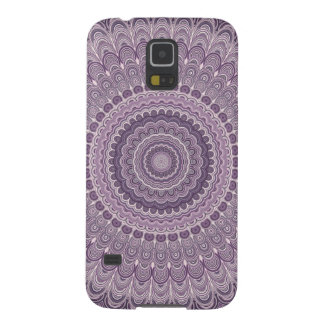 Purple feather mandala galaxy s5 cases
