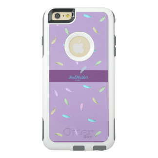 Purple feather phone case from Iphone 6 plus