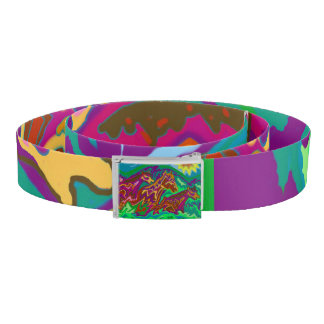 Purple Feathered Horses belt