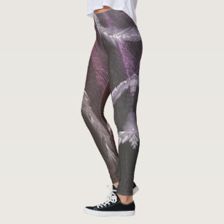 Purple Feathers leggings