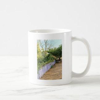 Purple Fence in the Garden Mug
