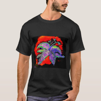 Purple Fern men's basic dark T-shirt