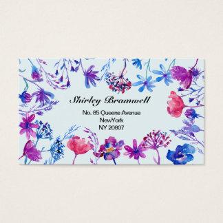Purple Field Flower Business Card