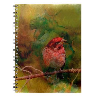 Purple Finch Spiral Notebook