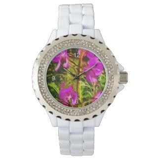 Purple Fireweed Alaska Wildflower Abstract Watch