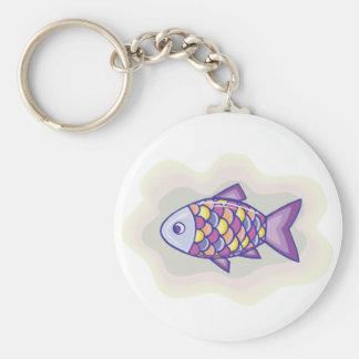 Purple Fish Key Ring