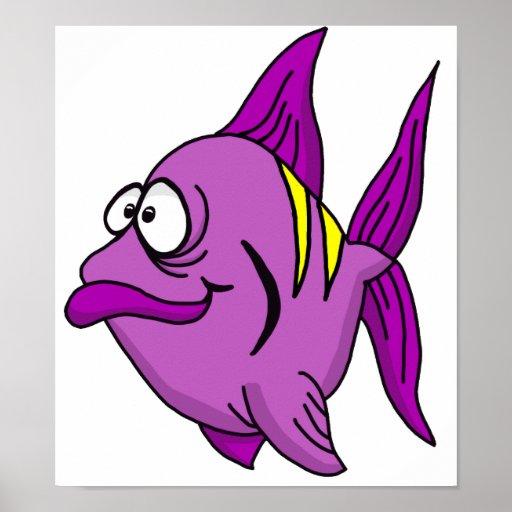 Purple Fish Poster