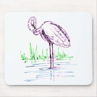 Purple Flamingo Mousepads