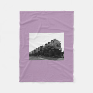 Purple Fleece Blanket Steam Engine