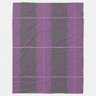Purple fleece printed blanket