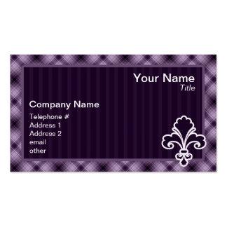 Purple Fleur de lis Business Card Templates