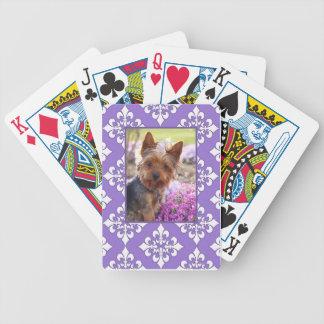 Purple Fleur de Lis Cards to Customize with Photo