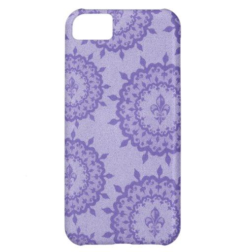 Purple Fleur De Lis Case For iPhone 5C