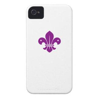 Purple Fleur De Lis iPhone 4 Case-Mate Case