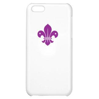 Purple Fleur De Lis iPhone 5C Cover
