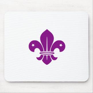 Purple Fleur De Lis Mouse Pads