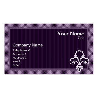 Purple Fleur de lis Pack Of Standard Business Cards