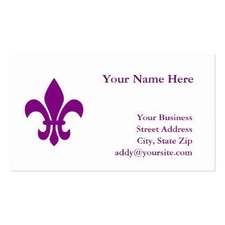 Purple Fleur de Lis Pack Of Standard Business Cards