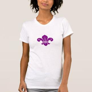 Purple Fleur De Lis T-shirts